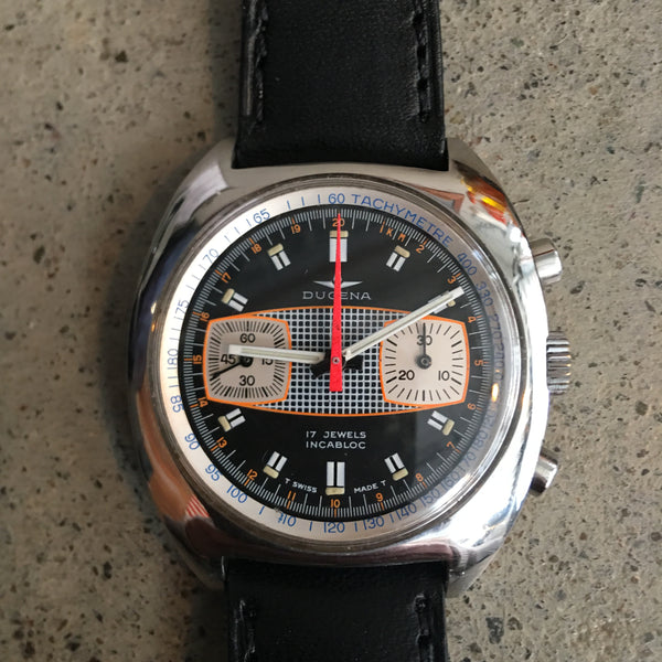 Vintage 70s Dugena Surfboard Dial 4002 Chronograph