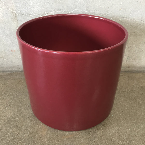 Gainey Ceramic Pot Small Burgundy