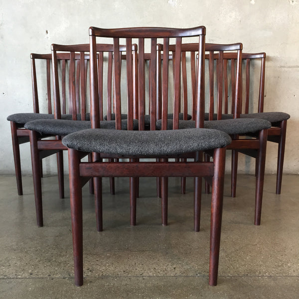 Set of Six Mid Century Rosewood Chairs