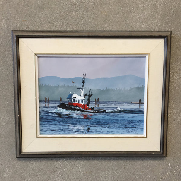 Tugboat Oil Painting