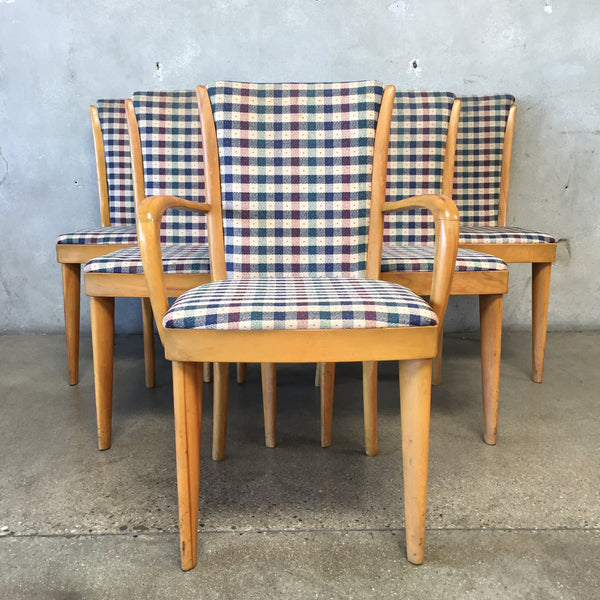 Set of Six Vintage Heywood Wakefield Maple Dining Chairs