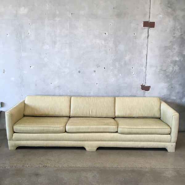 Mid Century Upholstered 9 Foot Sofa