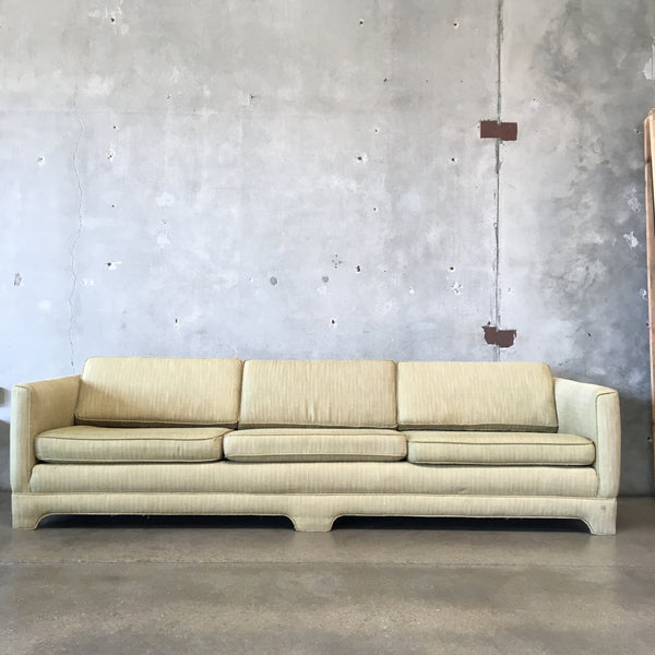 Mid Century Upholstered Nine Foot Sofa