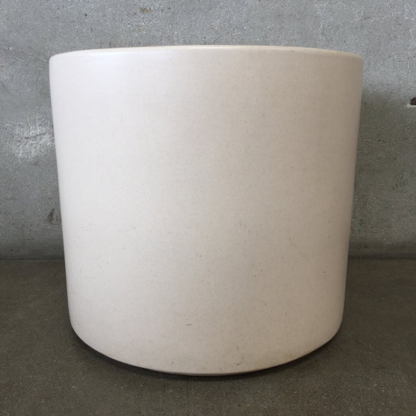 Mid Century Modern White Gainey Pot Large