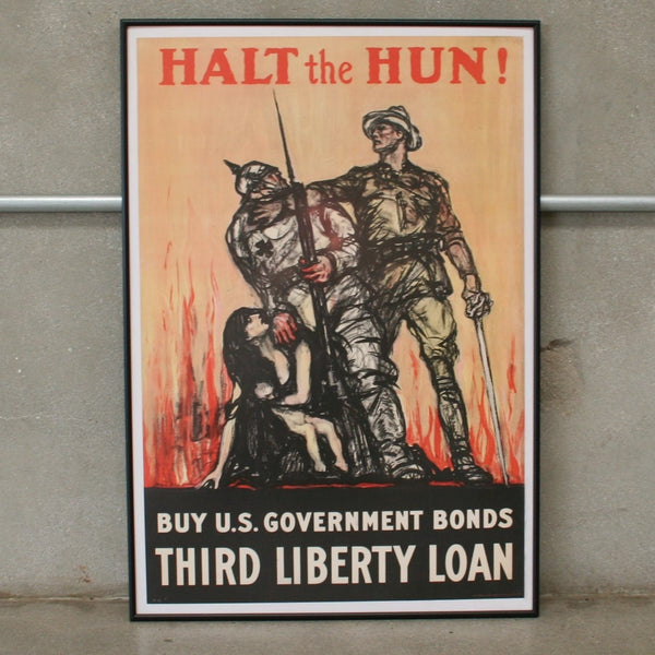 Original Halt the Hun 1981 WW1 Print