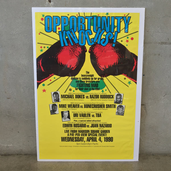 Opportunity Knocks Vintage Boxing Poster