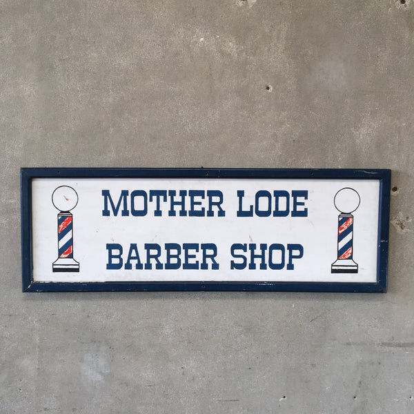 Mother Lode Barber Shop Sign