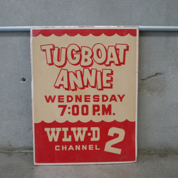 Tug Boat Annie TV Advertisment Sign