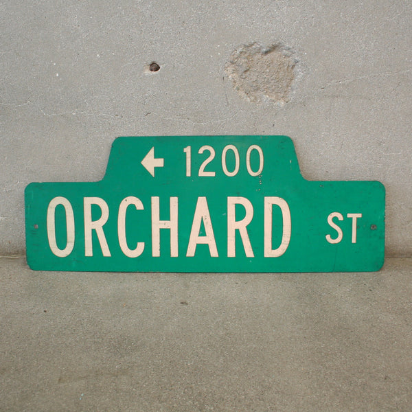 Orchard St. Sign