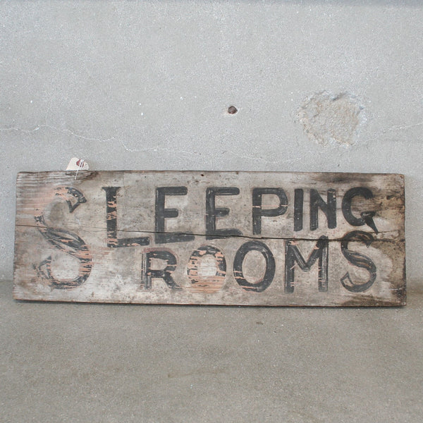 Wooden Sleeping Rooms Rental Sign