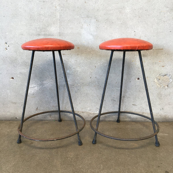 Pair of Mid Century Bar Stools