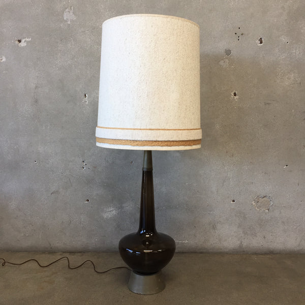 Tall Black Blenko Lamp
