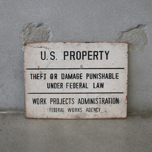 U.S. Property Sign