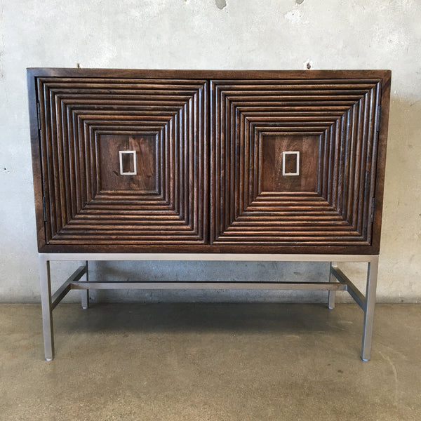 Modern Walnut Two Door Cabinet