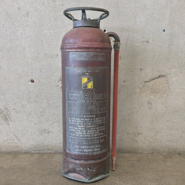 Vintage E.J. Steinke Co. Fire Extinguisher