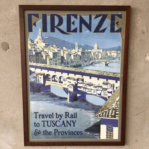 Framed Italian Travel Poster
