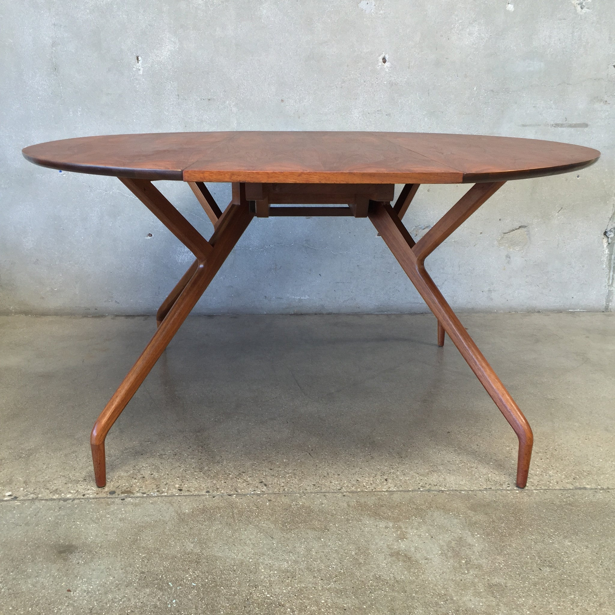 ... Mid Century Drop Leaf Dining Table By Greta Grossman ...