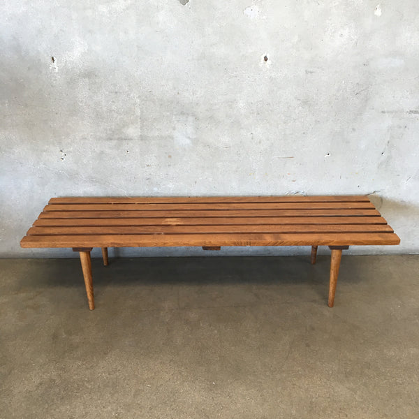 Vintage Mid Century Slat Coffee Table