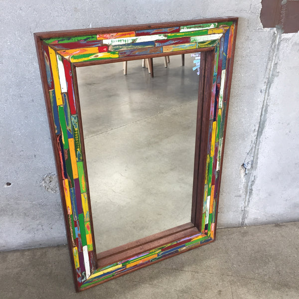 Reclaimed Teak Wood Mirror