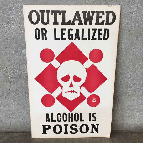 "Vintage ""Alcohol is Poison"" Poster"