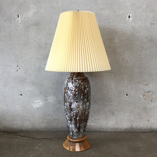 Large Lava Glaze Table Lamp