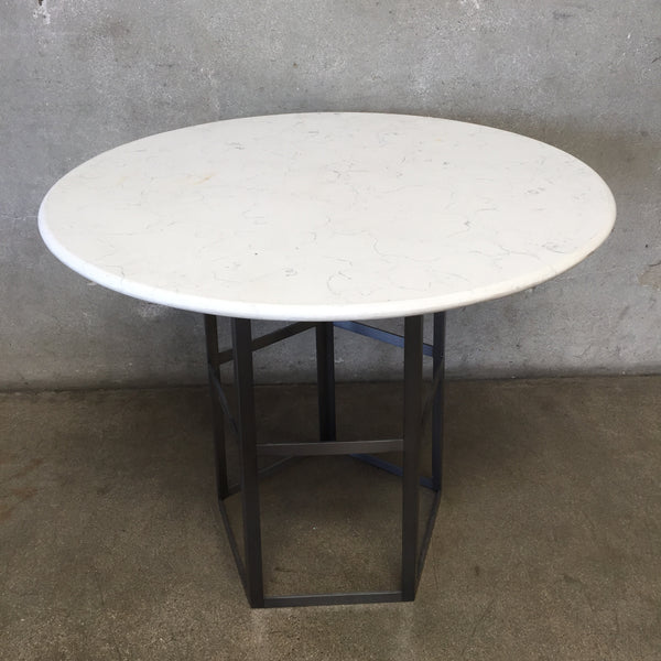 Modern Marble and Steel Tall Table