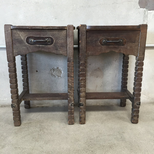 Pair of Monterey Nightstands in Old Wood Finish