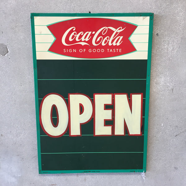 "1960's Coca Cola ""Open"" Sign"