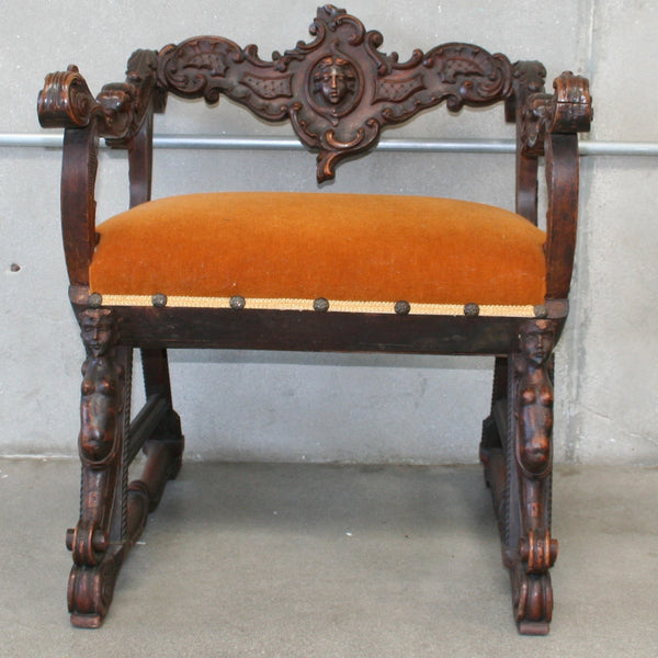 Ornate Carved Italian Chair