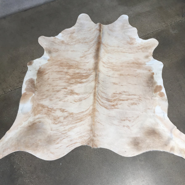 New Large White & Palomino Brindle Cowhide