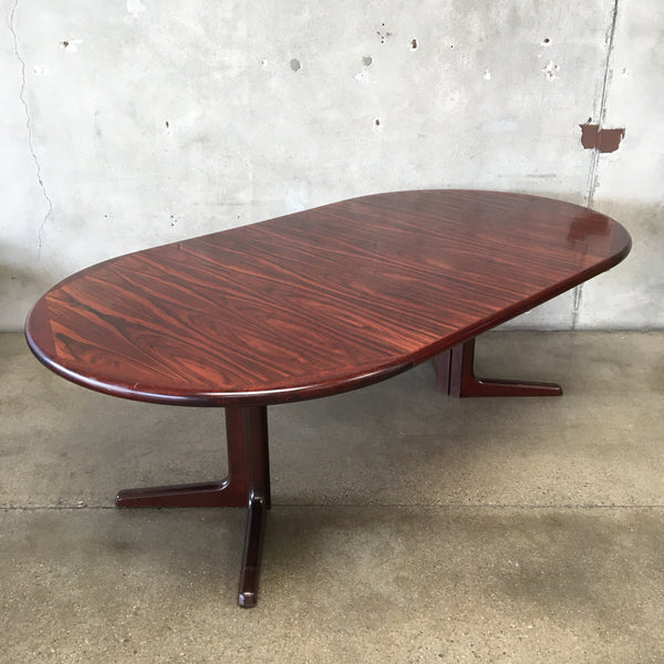 Mid Century Rosewood Dining Table by Dyrlund