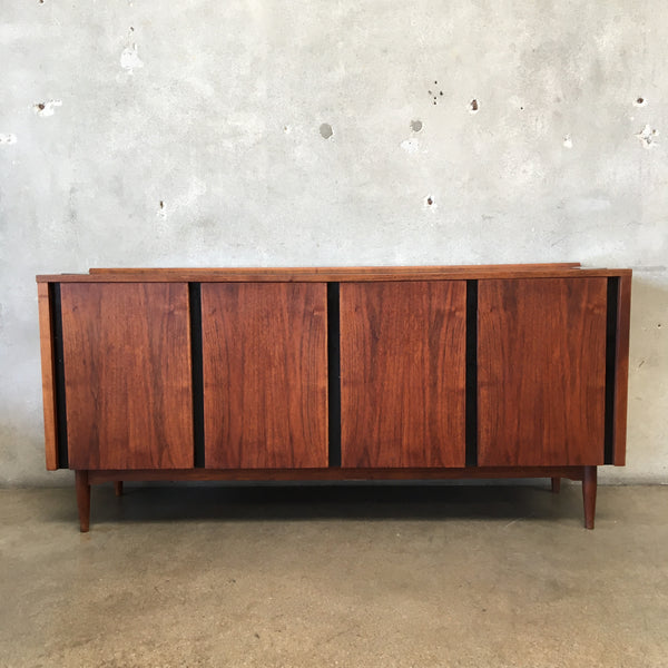 Mid Century Walnut Credenza Sideboard by Dillingham