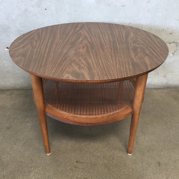 Lane Round Two Tier Table Circa 1960's