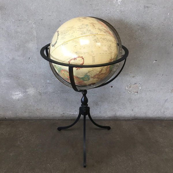 Modern World Globe on Metal Stand