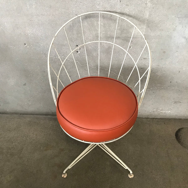Mid Century Modern Metal Wire Chair