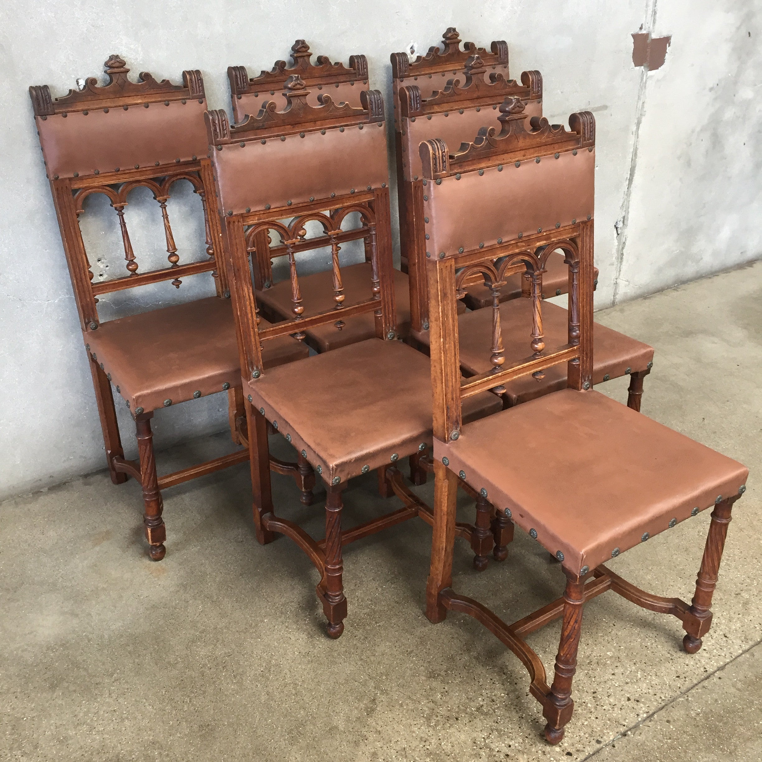 Set of Six Vintage Spanish Gothic Chairs – UrbanAmericana
