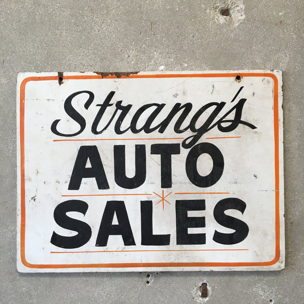 Strang's Auto Sales Sign