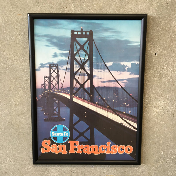 Original San Francisco Santa Fe Rail Road Poster
