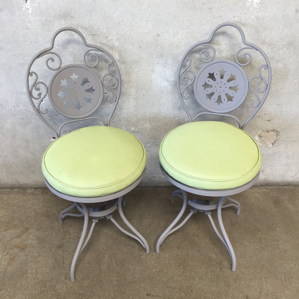Vintage Pair of French Iron Chairs