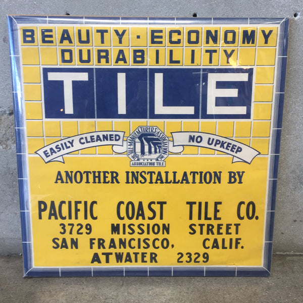 Original Pacific Coast Tile Co. Poster