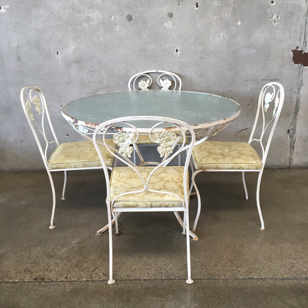 Mid Century Iron Five Piece Patio Set