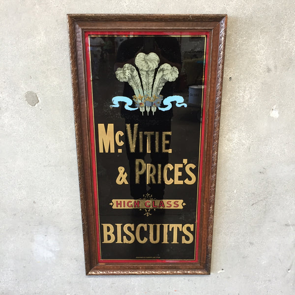 Reverse Painted Biscuit Company Advertisement
