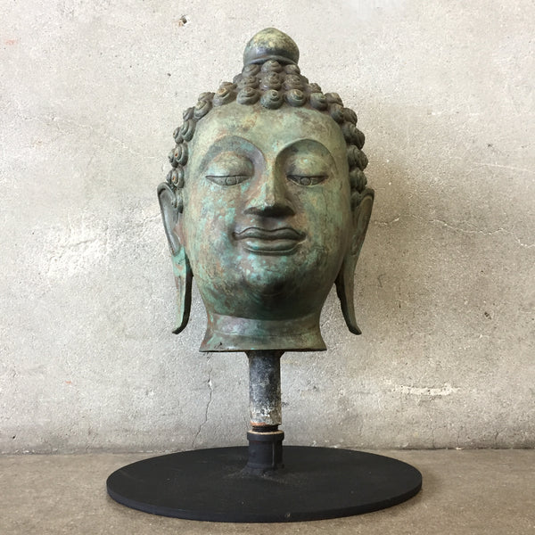 Bronze Buddha Head from Thailand