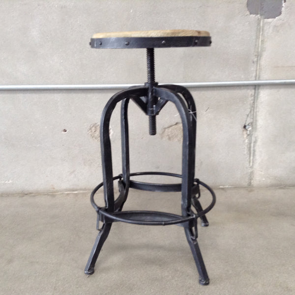 Stool with Wood Seat - 2 Available at the time of listing