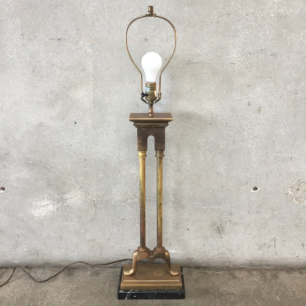Vintage High End Brass Lamp by Chapman