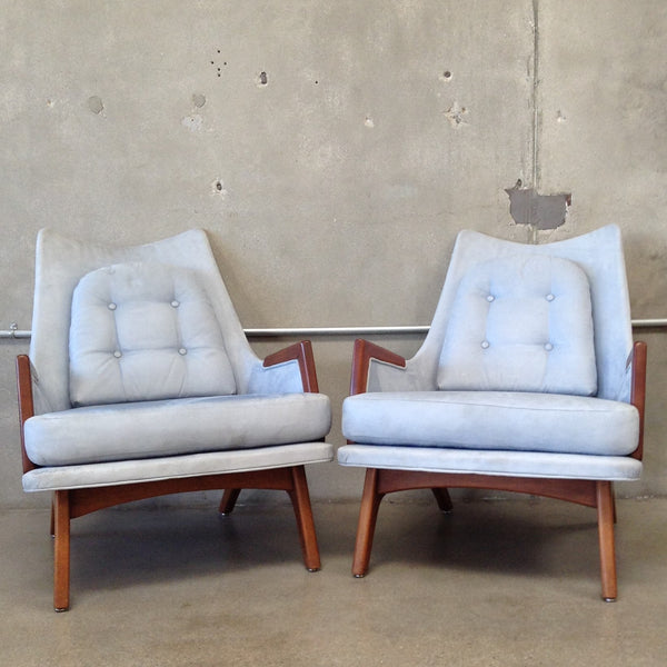 Pair of Blue Mid Century Chairs
