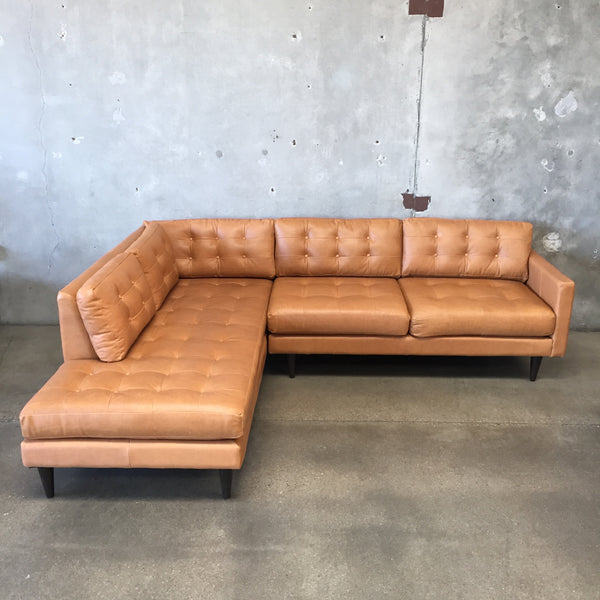 New Leather Sectional Sofa by Joybird