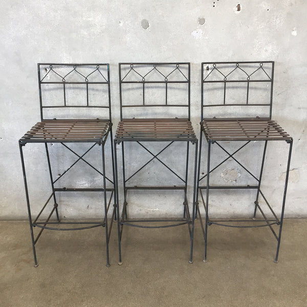 Three Bar Height  Iron Stools