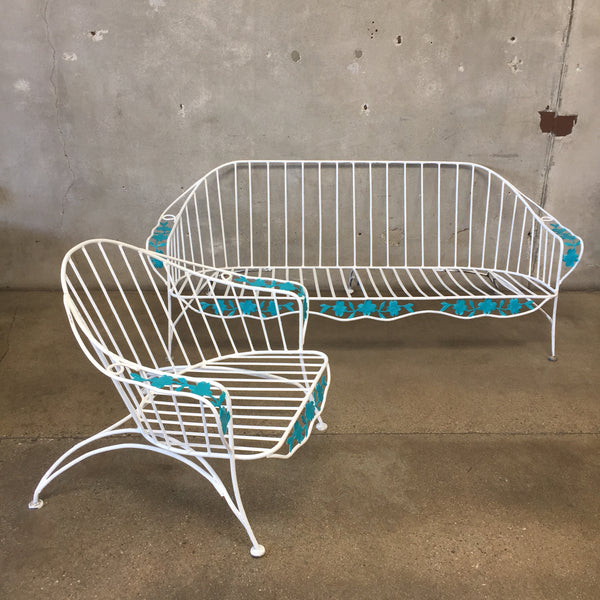 1950's Patio Furniture Set (Bench & Chair)