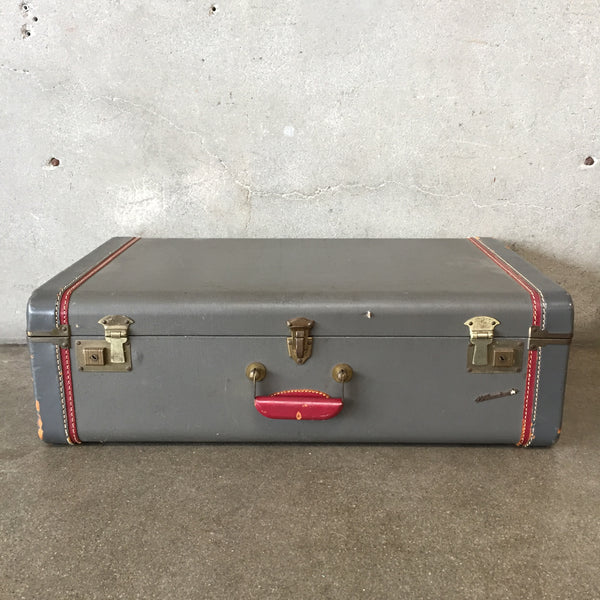 Vintage White Star Suitcase